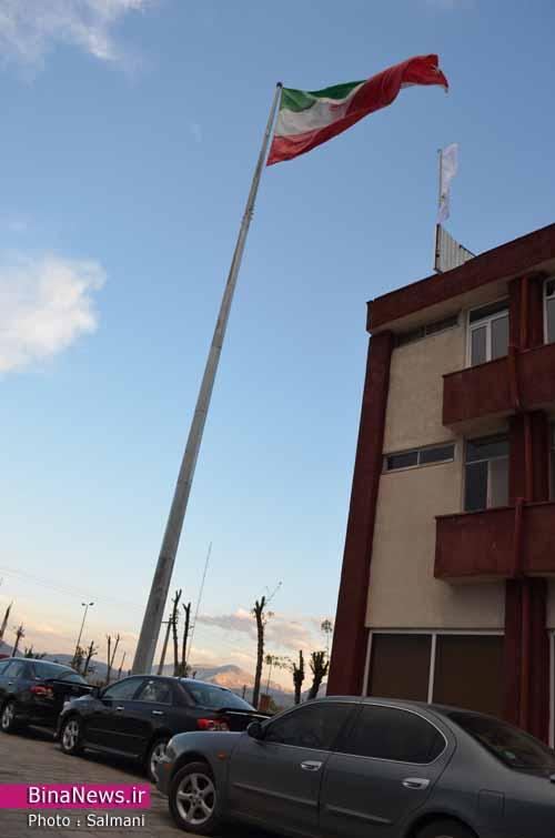 بزرگترین پرچم کشور در محوطه سازمان منطقه آزاد ماکو