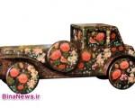 اتومبیلهای عتیقهای که به گل و مرغ منقش شدهاند!