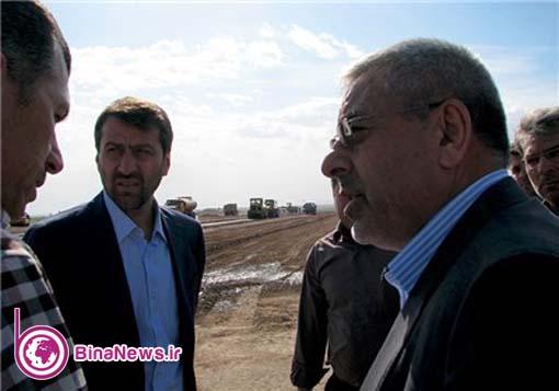 بازدید استاندار آذربایجان غربی از مراحل اجرای فرودگاه ماکو