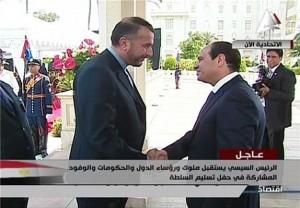 استقبال السیسی از امیرعبداللهیان