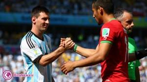 تیم ملی فوتبال آرژانتین با ناداوری ایران را برد!