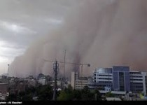 تهران و کرج امروز درمسیرگردوخاک شدید