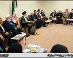 دیدار رییس جمهوری و اعضای هیات دولت با رهبر معظم انقلاب/تصاویر