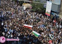 وداع مردم اورمیه با 29 شهید گمنام و تشییع 2 سرباز شهید/تصاویر