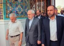حضور وزیرخارجه ایران در بارگاه امام علی(ع) و گفتگو با مراجع نجف