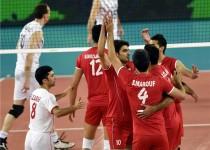 همگروهی والیبال ایران با فرانسه و آلمان