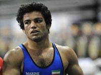 حبیب الله اخلاقی مدال طلای وزن 80 کیلوی کشتی فرنگی را تصاحب کرد