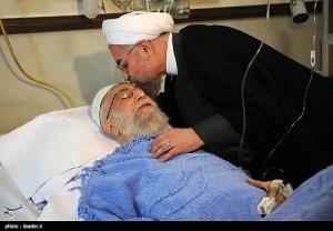 عیادت دکتر روحانیاز رهبر معظم انقلاب/تصاویر