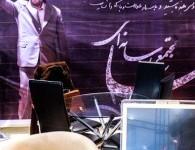 هواداران احمدینژاد در نمایشگاه مطبوعات