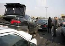 تصادف زنجیرهای در جاده تهران ـ مشهد