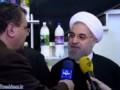 گفتگوی رئیس جمهور با خبرنگاران در شرکت صنایع شیر ایران