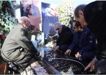 مراسم چهلم غلامحسین مظلومی در بهشت زهرا/ عکس