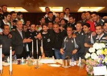 مراسم بدرقه مختصر ملیپوشان فوتبال