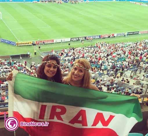 132 تماشاگران ایرانی بازی ایران با قطر در استادیوم سیدنی/تصاویر