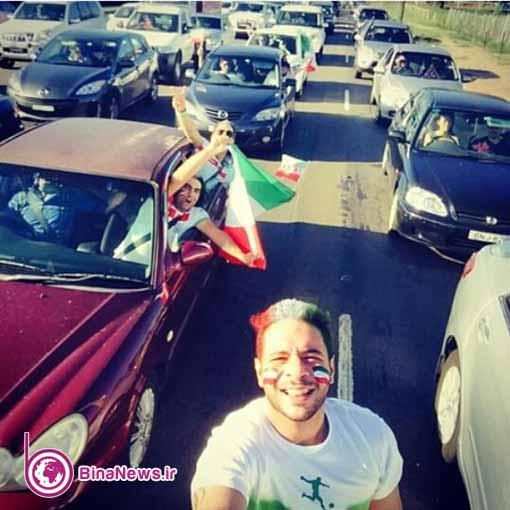 142 تماشاگران ایرانی بازی ایران با قطر در استادیوم سیدنی/تصاویر