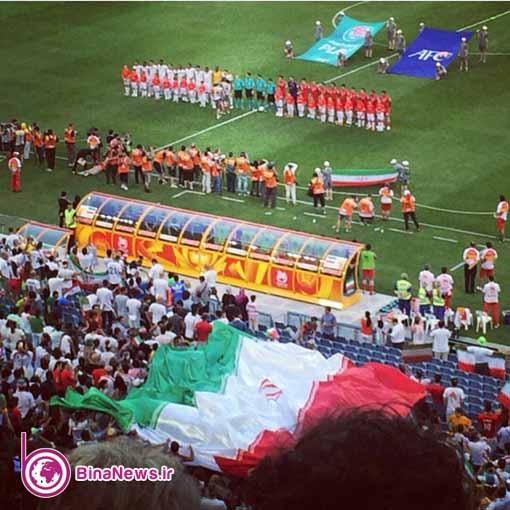 151 تماشاگران ایرانی بازی ایران با قطر در استادیوم سیدنی/تصاویر