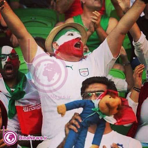 17 تماشاگران ایرانی بازی ایران با قطر در استادیوم سیدنی/تصاویر