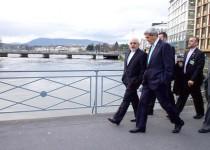 پیادهروی ظریف و کری در خيابان ژنو /تصاوير
