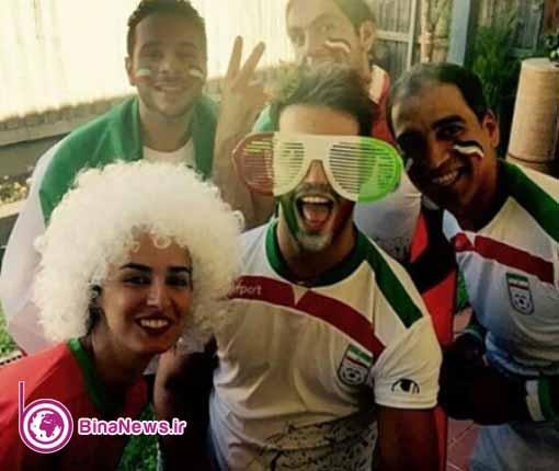 44 تماشاگران ایرانی بازی ایران با قطر در استادیوم سیدنی/تصاویر