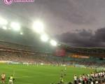 تماشاگران ایرانی بازی ایران با قطر در استادیوم سیدنی/تصاویر