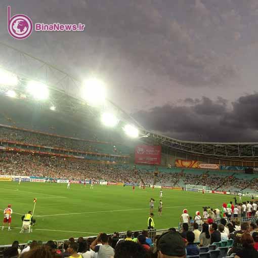 63 تماشاگران ایرانی بازی ایران با قطر در استادیوم سیدنی/تصاویر