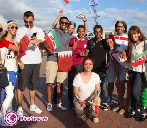 73 تماشاگران ایرانی بازی ایران با قطر در استادیوم سیدنی/تصاویر