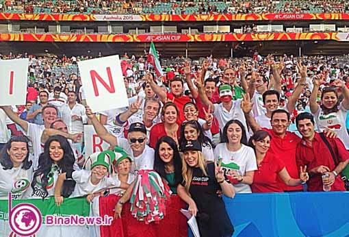 82 تماشاگران ایرانی بازی ایران با قطر در استادیوم سیدنی/تصاویر