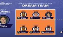 معروف در تیم منتخب رویایی لیگ جهانی 2014