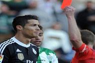 کریستیانو رونالدو دو جلسه محروم شد