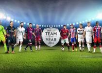 تیم منتخب یوفا در سال ۲۰۱۴ اعلام شد/ عکس