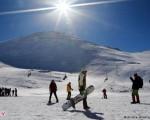 اسکی دختران و پسران در توچال/ تصاویر