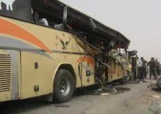تصادف 3 اتوبوس در اتوبان قم – تهران