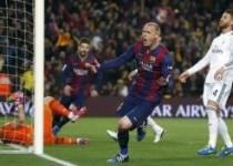 پیروزی بارسلونا در مقابل رئال مادرید