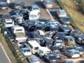 تصادف زنجیرهای 65 خودرو در محور کرج-قزوین