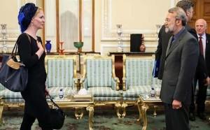 حجاب نماینده پارلمان اروپا در تهران+عكس