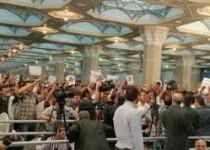 اخلالگران سخنرانی روحانی در حرم امام(ره) به قید تعهد آزاد شدند