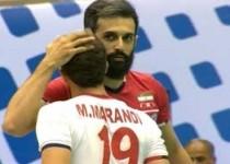 برد قاطعانه تیم ملی والیبال ایران در مقابل آمریکا