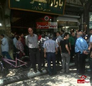 عملیات خنثیسازی جبعه مشکوک به بمب در پاساژ ارز تبریز/تصاویر