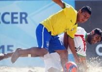 تیم ملی فوتبال ساحلی در مقابل برزیل 4-3 باخت