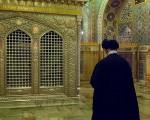 عکسهای منتشر نشده از رهبر انقلاب در حرم امام رضا(ع)