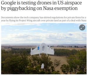 هواپیمای بدون سرنشین گوگل و ناسا