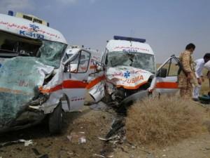 تصادف 2 آمبولانس اورژانس با 1 کشته /عکس