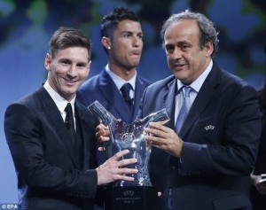 مسی بهترین بازیکن سال اروپا شد