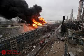 انفجارها در یک انبار نگهداری مواد شیمایی در چين؛ 44 کشته و 520 زخمی