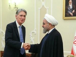 دیدار وزیر خارجه انگلیس با رییس جمهور اسلامی ایران