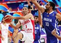 تیم ملی بسکتبال در دومین مسابقه هند را شکست داد