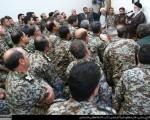 دیدار فرماندهان قرارگاه پدافند هوایی خاتمالانبیاء(ص) ارتش با رهبر انقلاب/تصاویر