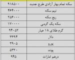 آخرین قیمت انواع ارز، سکه و طلا در بازار امروز/۲۸شهریور۱۳۹۴