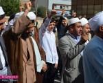 تجمع اعتراضی روحانیون منطقه آزاد ماکو در پی وقوع حادثه منا /تصاویر
