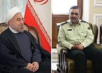 تسلیت رئیسجمهور به فرمانده نیروی انتظامی در پی درگذشت پدر ایشان